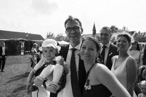 Hochzeitsfotograf mit Frau und Tochter