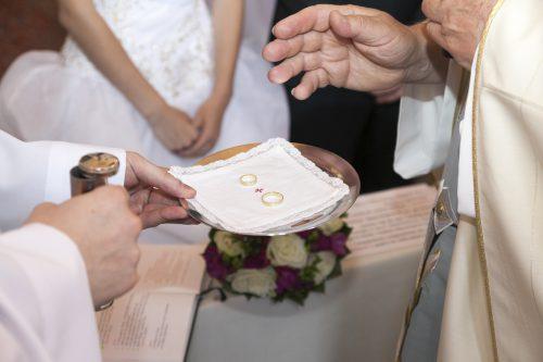 Weihung der Eheringe